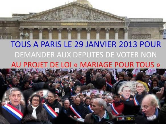 TOUS A PARIS LE 29 JANVIER 2013